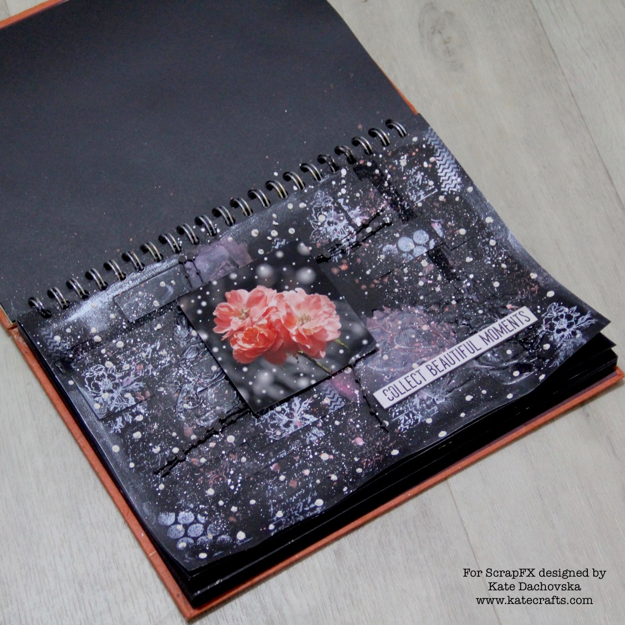 Winter art journal and christmas cards for ScrapFX | Kate Crafts
