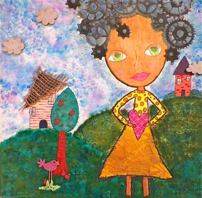 AfroGirlCanvas1_scarlettsalamone_mixedmedia_scrapfx_chipboard_stencils