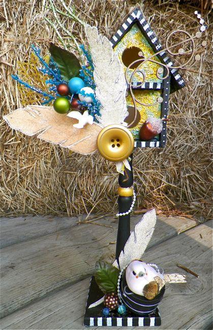 Birdhouse1_scarlettsalamone_mixedmedia_scrapfx_stamping_feathers