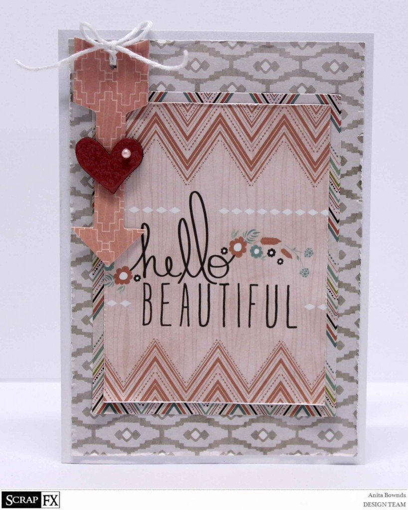 Hello Beautiful card - Anita Bownds 2014 August Scrapfx DT  (1)
