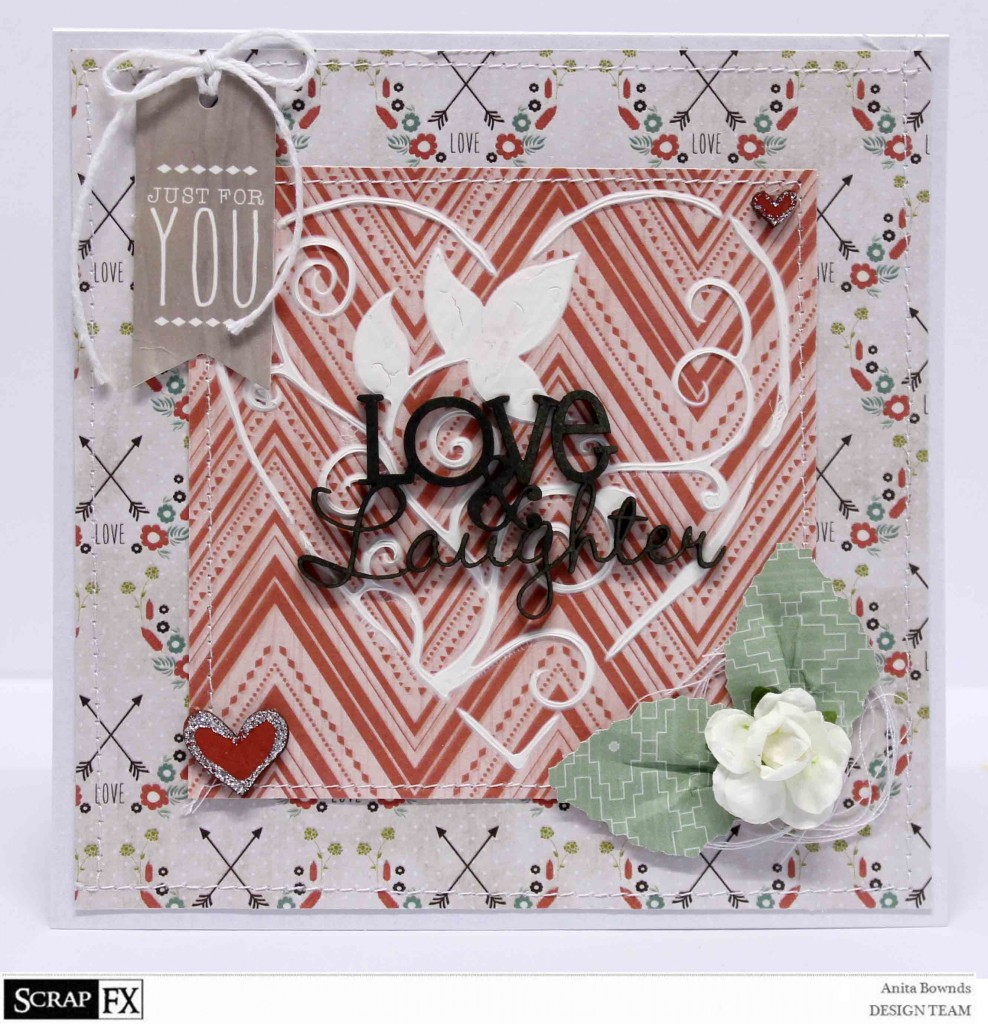 Love and Laughter card - Anita Bownds 2014 August Scrapfx DT  (1)