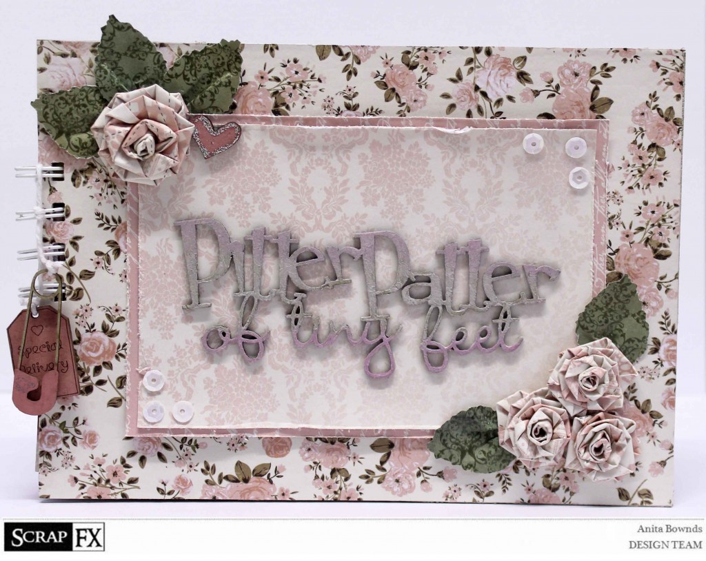 pitter patter of tiny feet book - Anita Bownds 2014 August Scrapfx DT  (1)