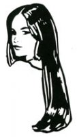 Girl with Tresses stamp