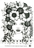 Flowers in her hair by Tracy Scott