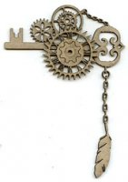 Steampunk Key Corner