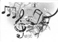 Music collage paper