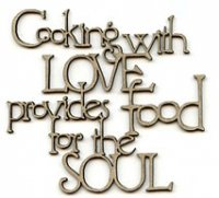 Cooking with Love phrase