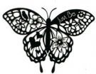 Blooming Butterfly Silhouette