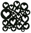 Heart Spangles stamp