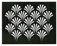 Art Deco stencil