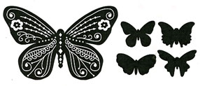 Beautiful Butterfly stamp - Click Image to Close