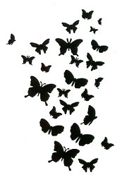 Butterflies stencil - Click Image to Close