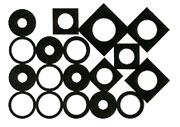 Circles & Squares stamp