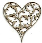 Damask Heart B LARGE Brocade