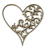 Damask Heart C LARGE open lace
