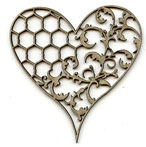 Damask Heart A LARGE Wire & Lace
