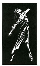 Dramatic Dancer stencil - Click Image to Close