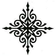 Diamond Flourish Stamp - Click Image to Close