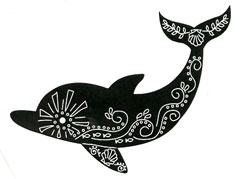 Dolphin stamp - Click Image to Close