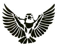 Flutter Bird stencil