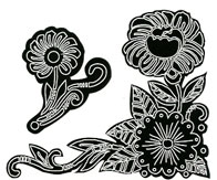 Frazzle Flowers stamp