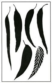 Gum Leaves stencil - Click Image to Close