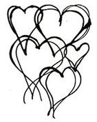 Hearts Divine stencil