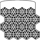 Hexagonal Pattern stencil