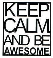 Keep Calm black SMALL