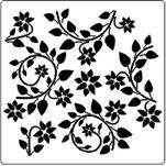 Leafy Swirls Stencil