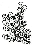 Leafy Seaweed stencil