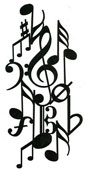 Music Collage stamp
