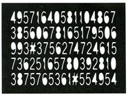 Number Panel stamp