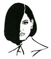 One-eyed Girl stencil