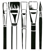 Paint Brushes stencil