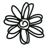 Scribble Daisy stamp - Click Image to Close