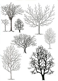 Trees ricepaper - Click Image to Close