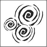 Whirlpools stencil