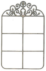 Wrought Iron Window - Click Image to Close