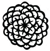 Zinnia stamp