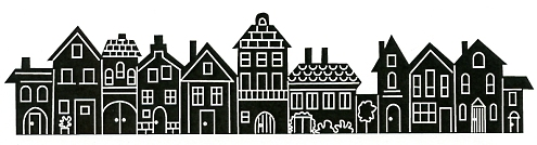 Houses in a Row stamp - Click Image to Close