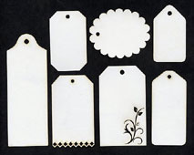 Tags, mixed white - Click Image to Close